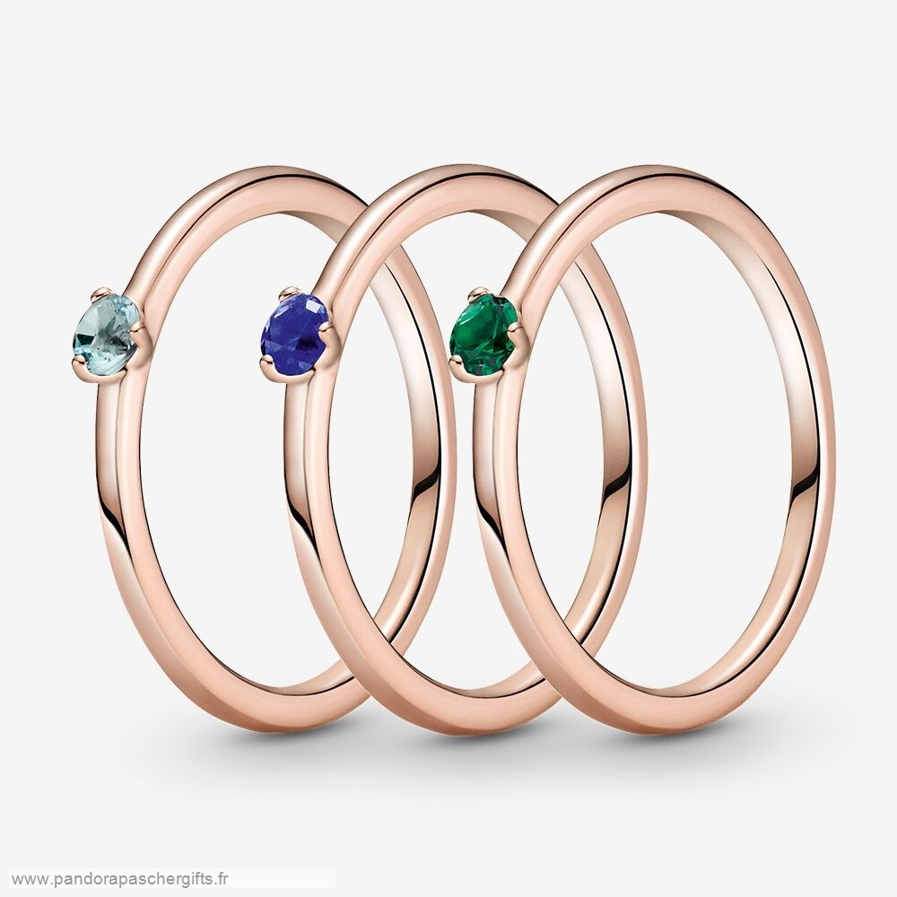 Soldes Meilleure Pandora Solitaire Cool Hues Bagues Stack